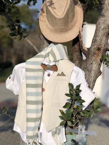 μέντα βαπτιστικό ρούχο με καβουράκι