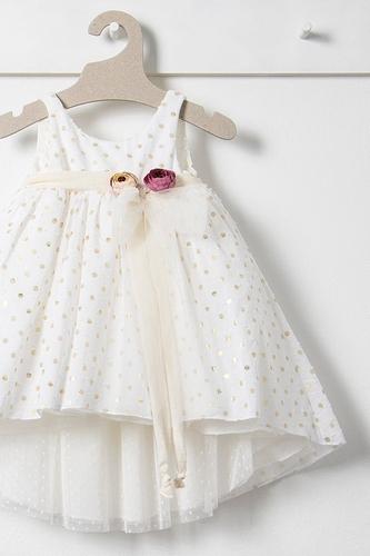 Βαπτιστικό φόρεμα διπλής όψης Bambolino