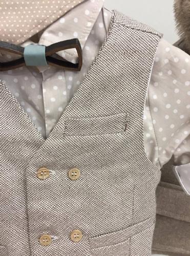 χειμερινό ρούχο για αγόρι ξύλινο παπιγιόν