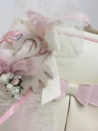 τσάντα για κορίτσι για βάπτιση με κύκνο και πούπουλο