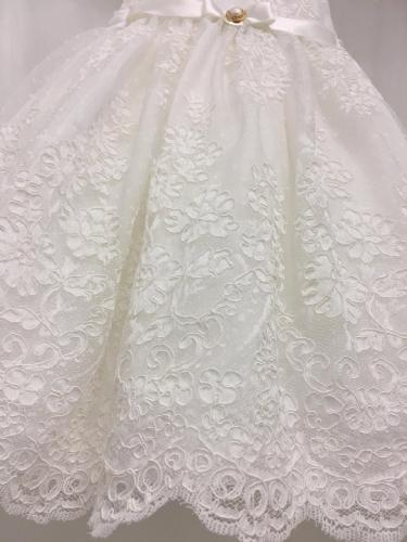 βαπτιστικό φόρεμα δαντέλα
