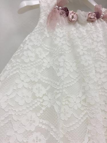 Βαπτιστικό φόρεμα απο δαντέλα ιβουάρ