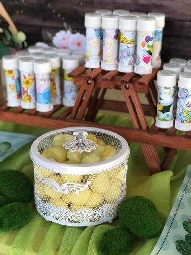 glof ζαχαρωτά κίτρινα και σαπουνόφουσκες