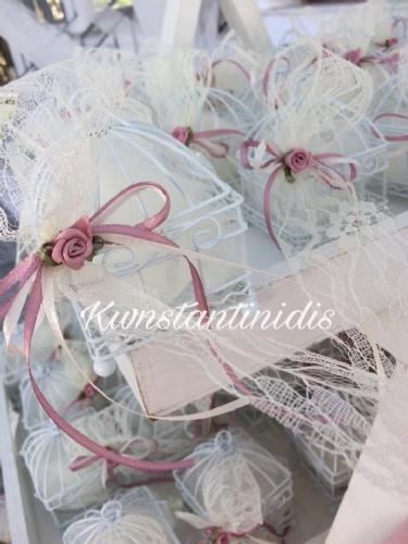 μπομπονιέρα βάπτισης για κορίτσι κλουβί λευκο μεταλλικό για πουλάκι κλουβάκι