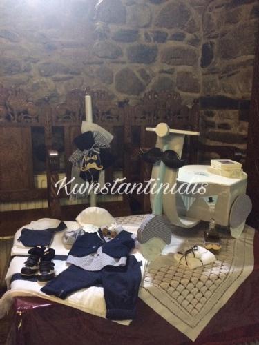 Σετ βάπτισης για αγόρι με θέμα βέσπα ξύλινη