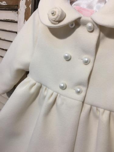 Βαπτιστικό παλτό εκρού για κορίτσι