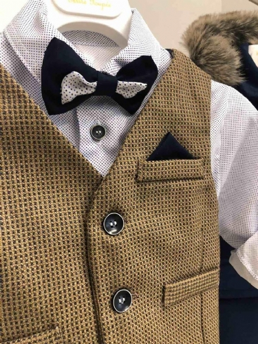 Βαπτιστικά ρούχα για αγόρι με γιλέκο