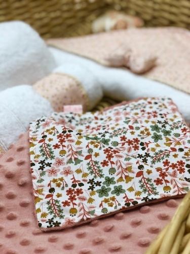κουβερτάκι μίνκυ σάπιο μήλο με λουλούδια φλοράλ σχέδιο για κορίτσι